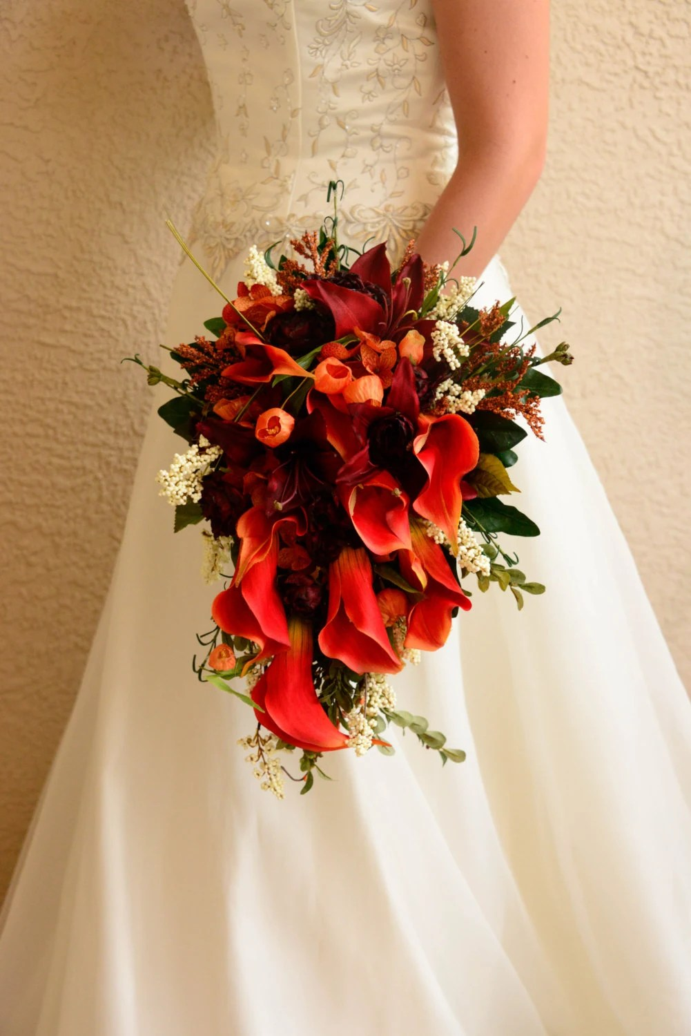 Fall Wedding Boutonniere Corsages And Flower Girl Halo 7