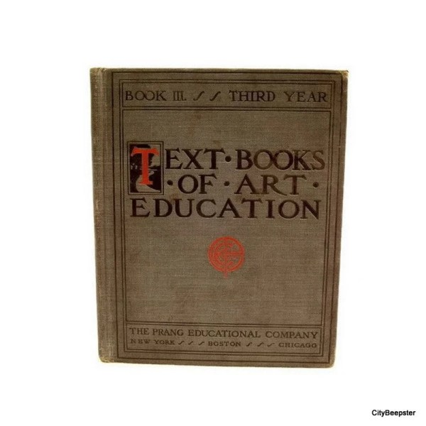 Vintage Childrens Book Text Of Art Education Iii