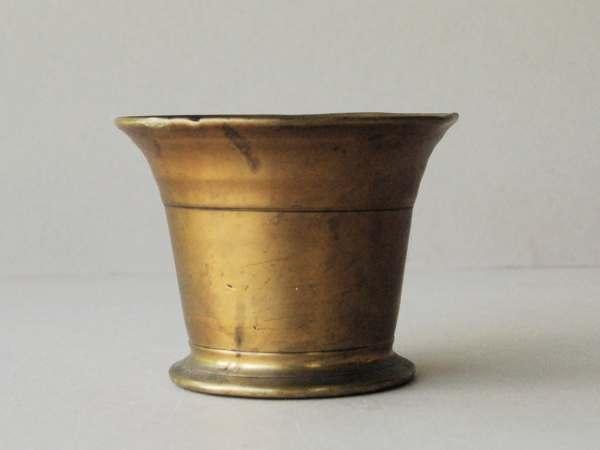 Antique Brass Mortar Heavy Pot Flower
