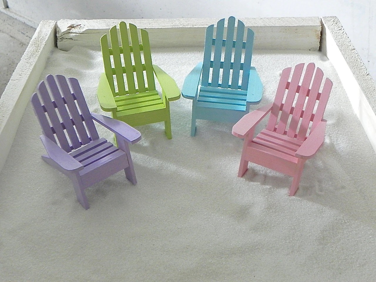 Mini Adirondack Chairs One Miniature Adirondack Chair Beach Diorama Cake Topper