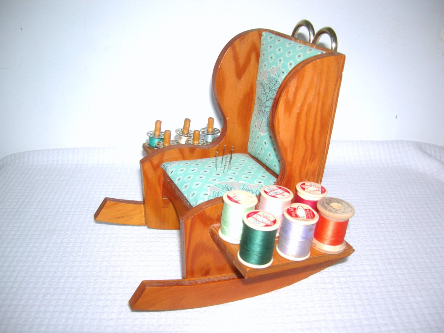 antique sewing chair black lounge handmade vintage rocking caddy wooden