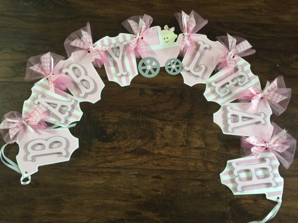 Personalized Baby Banner Shower