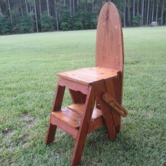 Chair Step Stool Ironing Board Covers For Garden Chairs Wood Chairironing Boardstep Ladder Folk Arthandmade