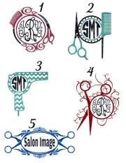 custom hair stylist glitter monogram
