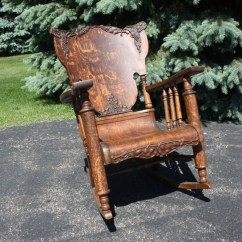 1920s Rocking Chair Cheap Chairs For Bedroom Vintage/antique Oak Tiger Wood