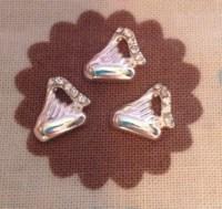 Silver hershey kiss floating locket charm