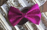 pink glitter hair bow formydaughter114