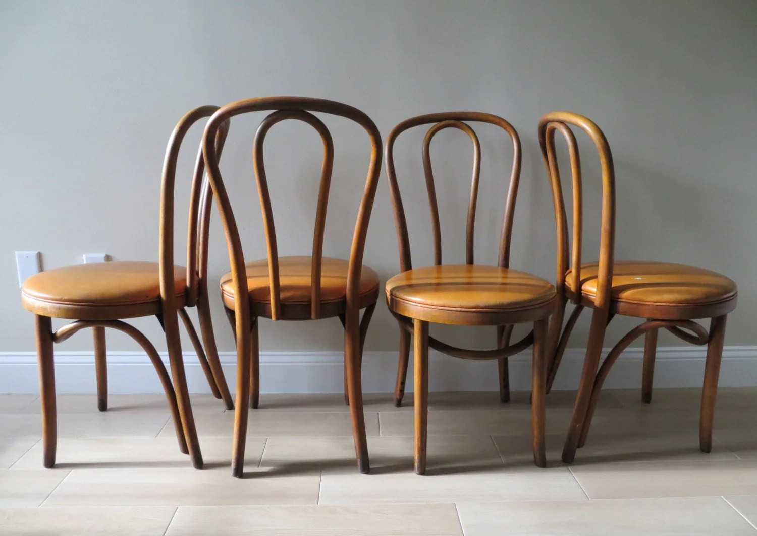 retro cafe dining chairs wood drafting chair vintage mid century bentwood thonet style bistro