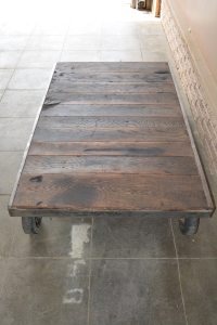 Vintage Steel Cart coffee table  reepurposed  Steampunk ...