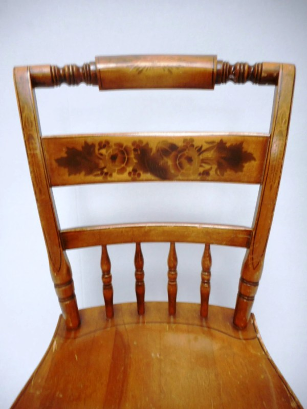 Vintage Hitchcock Chair With Floral Motif