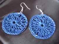 crochet lace hoop earrings