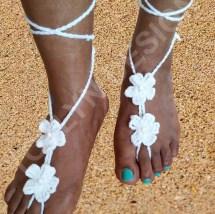 Crochet Barefoot Sandals Slippers Beach Wedding