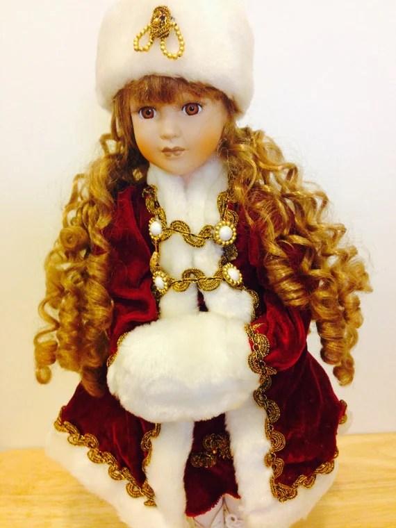 Vintage 16 Porcelain Doll From 1980s