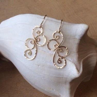 Fancy Spiral Earrings 14k Gold-filled