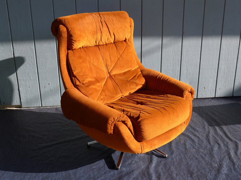 burnt orange rocking chair cushions correct posture reserved for dinakohn plush egg vintage