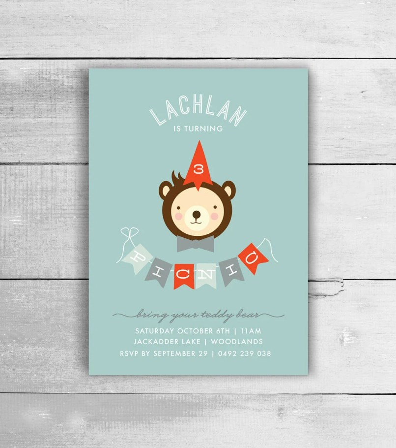 teddy bear party invites | Inviview.co