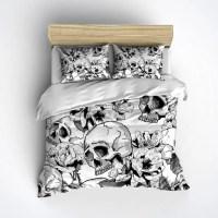 Fleece Skull Bedding Black & White Skull Duvet with by ...