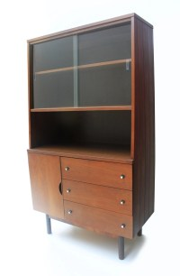 Mid Century Stanley Hutch China Cabinet Tapered Style