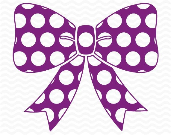 Download Polka dot Bow design SVG DXFEPS cutting files for use with