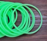 30pcs rubber elastic aqua green