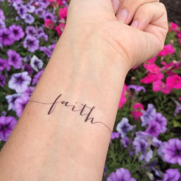 faith tattoo arm temporary