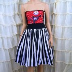 Nmbc Jack Skellington Strapless Summer Sun Dress Cosplay