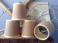 SUPPLIES...4 small vintage matching lamp shades lamp parts