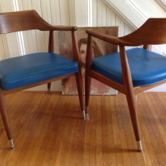 Jasper Chair Company Parker Knoll Dining Chairs Four Danish Modern Arm Mid Century Co