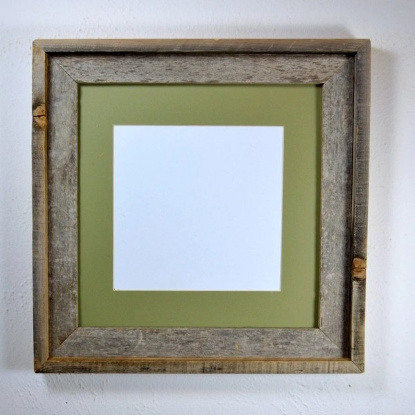 12x12 Frame With Mat 10x10 8x8 Barnwood4u