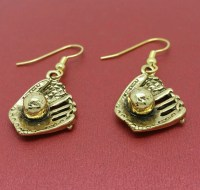 Softball Earrings Baseball Earrings Mitt and Ball Earrings