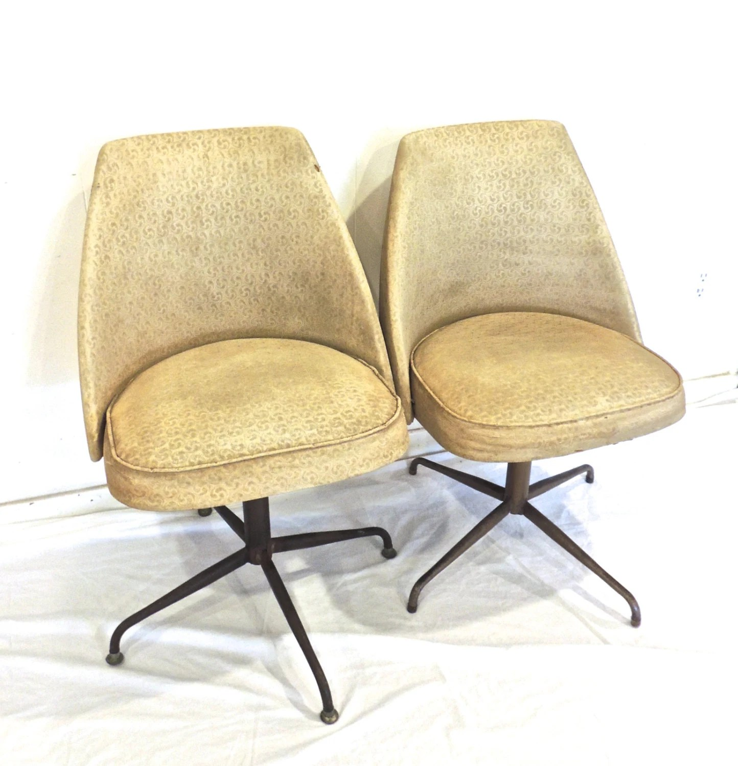 swivel pod chair chevron dining covers vintage atomic chairs 1950s 60s mid century by