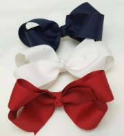 red white blue hair bow patriotic