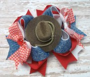 cowgirl country hair bow