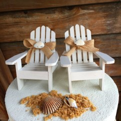 Wedding Wooden Chairs Dining Chair Pad Replacement Adirondack Beach Cake Toppers