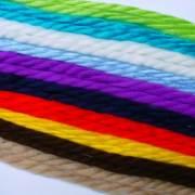 pair yarn hair ribbon 70s vintage
