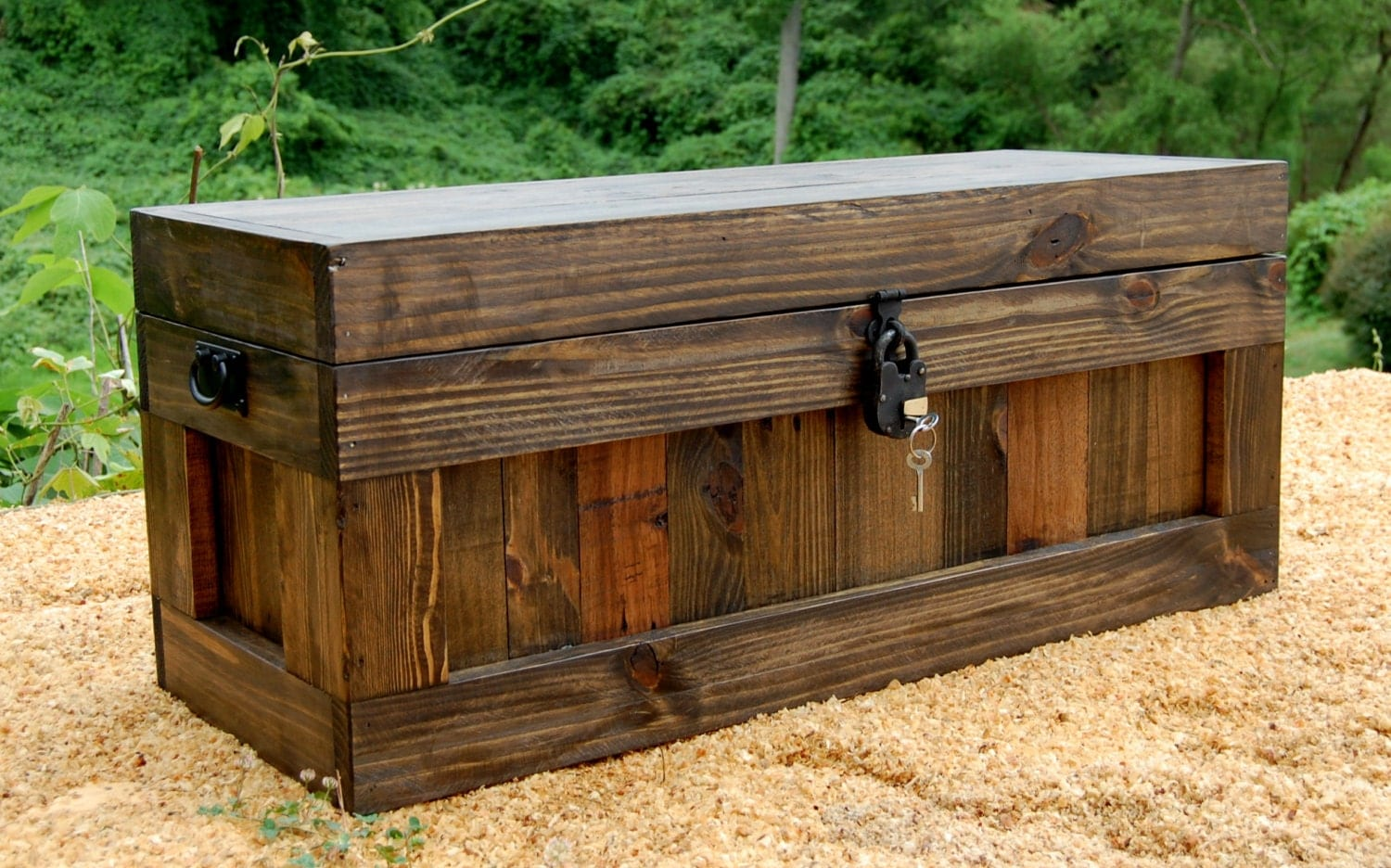 Jacobean Chest With Lock/ Hope Chest/ Wooden Trunk/ Coffee