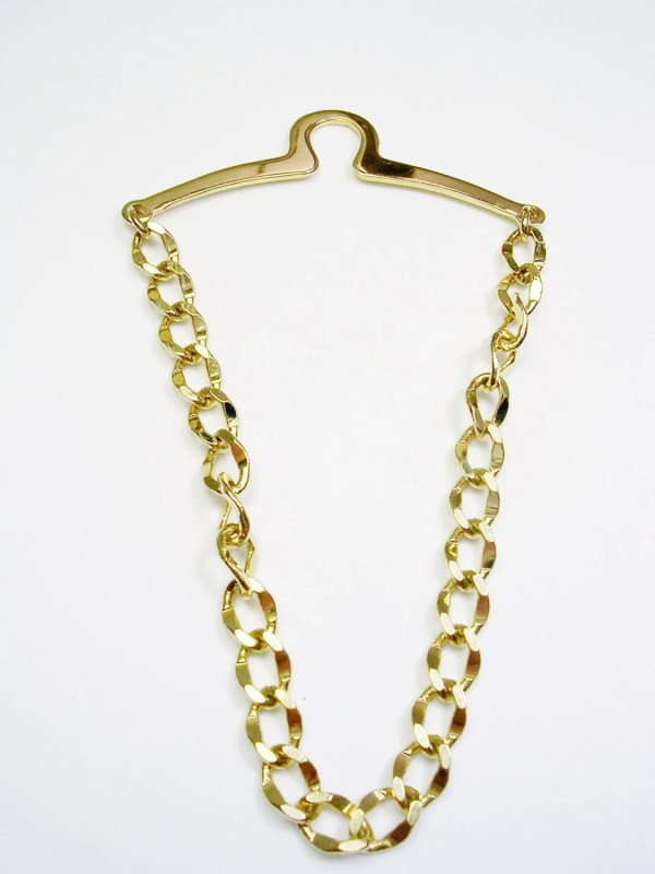 Vintage Tie Chain Gold Tone Over Button