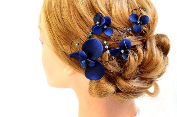 Navy Blue Fascinator Bridesmaids Navy Head Piece By MyArtDeco