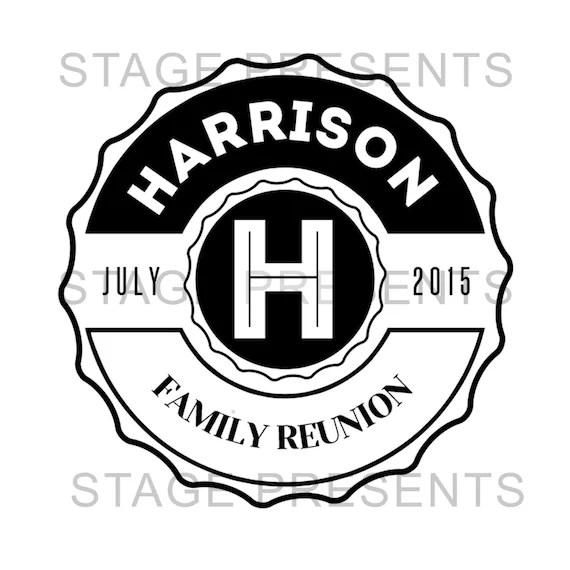 Family Reunion Logo Custom Logo Personal Use Family