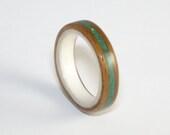 Bent Wood Ring.  Rosewood...