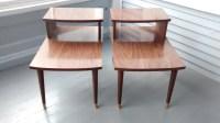 End Tables Step up Mid Century Danish Modern Vintage