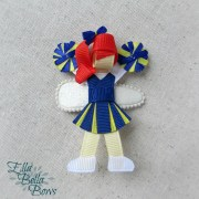 cheerleader ribbon sculpture hair