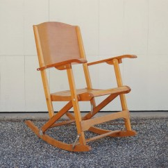 Old Fold Up Rocking Chair Best Tv Watching Folding Clement Canada Maple