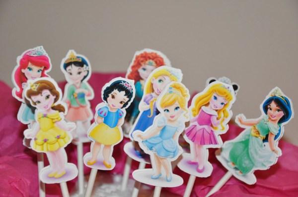 Disney Princess Toddler Baby Cupcake Toppers Cake Set