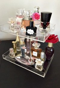 Perfume Storage Holder 3 Tiers Clear Acrylic by