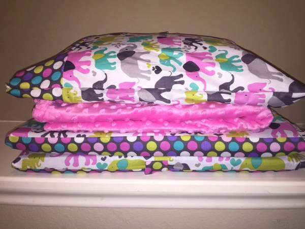 Girl Kinder-mat Cover With Pillow Minky Blanket And Monogram