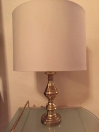 Gold table lamp by NeatandNeat on Etsy