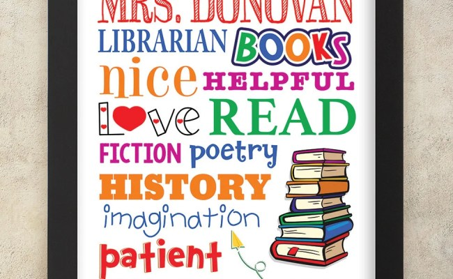 Librarian Gift Personalized Librarian Gift Teacher