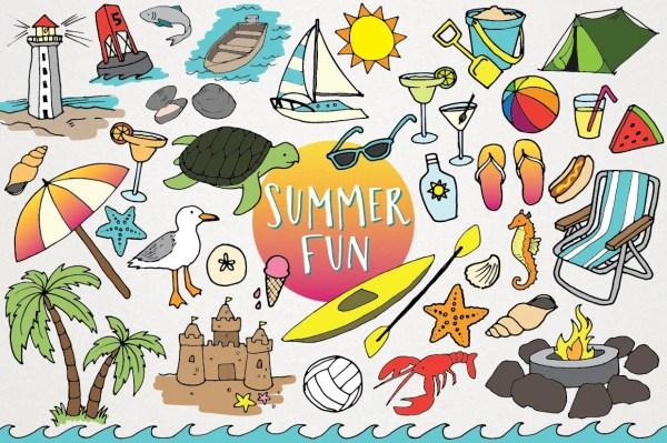 beach clipart summer fun