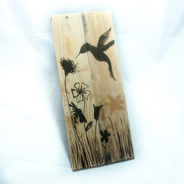 Woodland Decor Hummingbird Art Painting Rustic